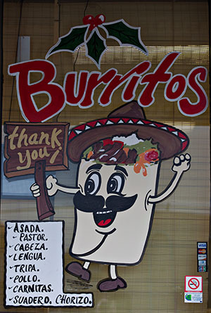 Buritos sign