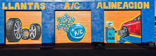 auto repair murals