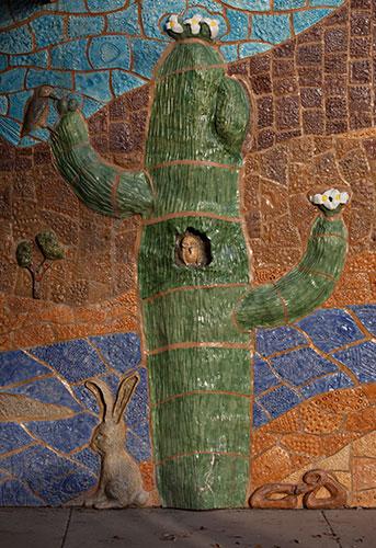 saguaro mosaic mural