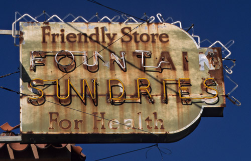 Old drug store sign