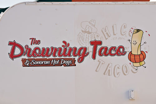mexican food sign, taco wagon