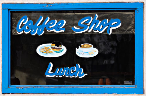 Coffe shop sign