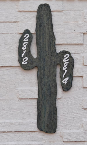 cactus themed sign