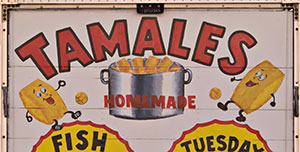 tamales sign