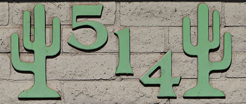 cactus themed house numbers