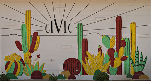 cactus themed mural