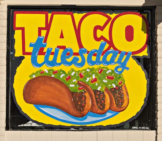 taco tuesday sign