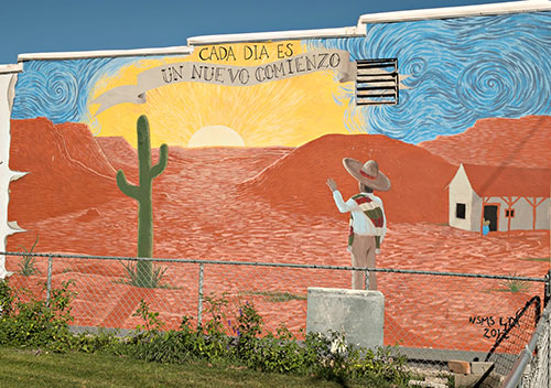mural with cactus