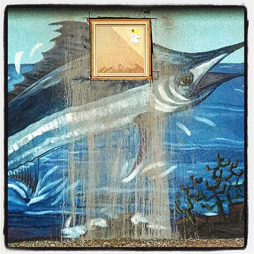swordfish mural