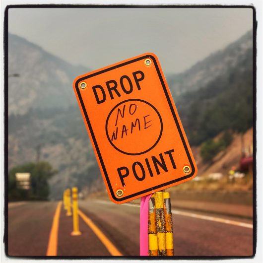 Drop Point Sign