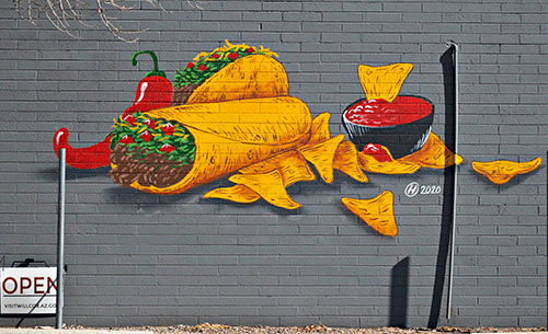 mexican food mural
